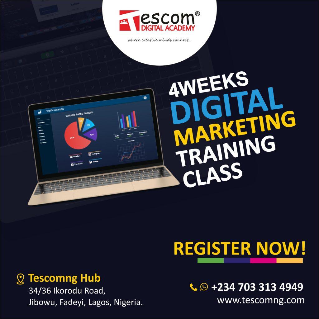 Free Digital marketing training in Lagos